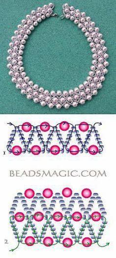 making bracelets with beads #BeadedJewelry Jewelry Making Tutorials, Beading Tutorials, Beading Patterns, Beading Ideas, Loom Patterns, Seed Bead Jewelry, Bead Jewellery, Bead Earrings, Seed Beads