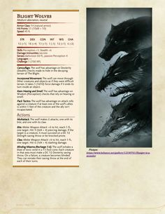 Image result for blight wolf dnd