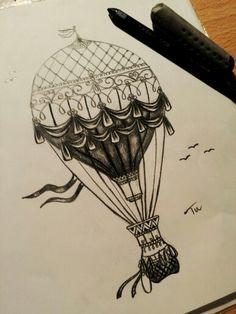 By: Tutu Half-time ;) #tattoo #balloon #black