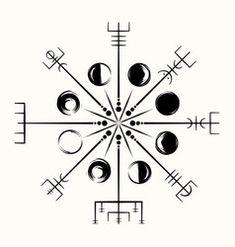 Vegvisir Magic Compass of Vikings Runic Talisman Vector Image