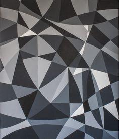 Face it, schilderij van Christian van Hedel | Abstract | Modern | Kunst