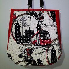 Danfel's bolsos y sandalias: Bolsos y cosmetiqueras Casual Reusable Tote Bags, Shoes Sandals, Totes, Blue Prints