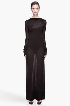 rick owens sheer silk martha dress | reg $1165, sale $350  | size IT 42