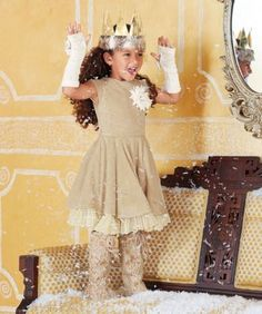 d1c3109c8d06 fuzzy lace-trim girls dress Girls Holiday Dresses, Girls Special Occasion  Dresses, Girls