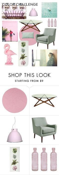 """Green and blush Color challenge- modern"" by vintagedaisy1 ❤ liked on Polyvore featuring interior, interiors, interior design, home, home decor, interior decorating, Colonial Mills, Control Brand, Cultural Intrigue and LINUM"