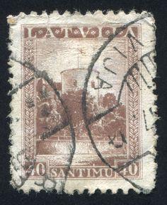 https://flic.kr/p/kJTptF | Latvia 0015 m | LATVIA - CIRCA 1934: stamp printed by Latvia, shows Riga Castle, circa 1934