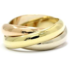 Cartier 18k Yellow/White/Pink 3 Gold Trinity Ring Us Size 5.25