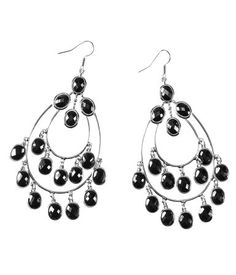 dangle black earrings
