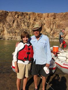 Our Founders, Dee & Sue Holladay on the Green River through Desolation Canyon