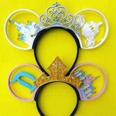 The bottom one though! Diy Disney Ears, Disney Mickey Ears, Disney Bows, Disney Diy, Disney Crafts, Cute Disney, Disney Style, Disney Trips, Mickey Mouse