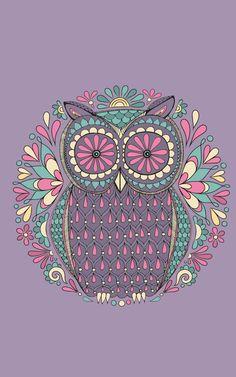 Retro Owl Background.