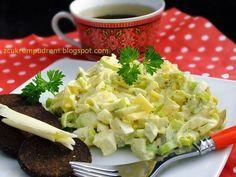 Jedna z najlepszych jakie jedliśmy, do tego szybka i tania, czego chcieć więcej? :) przepis stąd 1 duży por 4 jaja ugotowane na tw...