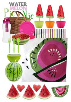 """""""Watermelon Pic-Nic..."""" by anizet-designs ❤ liked on Polyvore featuring interior, interiors, interior design, home, home decor, interior decorating, Lékué and Pier 1 Imports"""