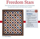 Freedom Star from Patriotic Quilts Fall 2013. Quilt by Diane Tomlinson.