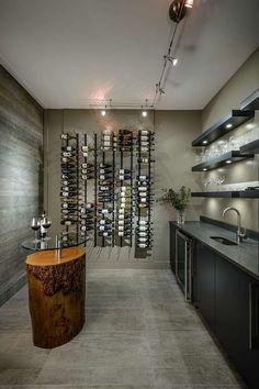 meuble de cave à vin de style moderne