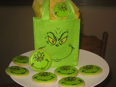 Grinch cookies from Cupcake Kisses