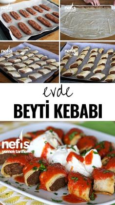 How to make Beyti Kebab? Videolu Tarif Nefis Yemek Tarifleri How to make Beyti Kebab? Video Recipe Yummy Recipes the - Fun Easy Recipes, Easy Meals, Yummy Recipes, Recipes Dinner, Meat Recipes, Pasta Recipes, Dinner For 2, Turkish Recipes, Food Videos