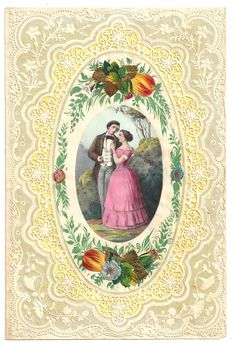 Exquisite antique Valentine from the collection of Ephemera Society President Nancy Rosin