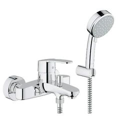 GROHE Eurostyle is designed around natural forms for an organic, flowing look. A sensuous touch to your home spa. #bathroom #spa #shower #mixer See more at http://www.grohe.co.uk/en_gb/bathroom/complete-bathroom-eurostyle.html