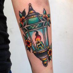 Lantern tattoo by Hamish at 22 Sixty tattoos NSW Australia #evamigtattoos #tattoo
