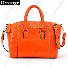 $50.39 - Fangled PU Leather Bag Shoulder Bag Handbag with Simple Alligator Pattern for Lady Girl from UltraBarato Gadgets