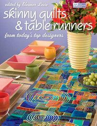 "(From Martingale & Company) ""Skinny Quilts and Table Runners"" book by Eleanor Levie has some outstanding patterns"