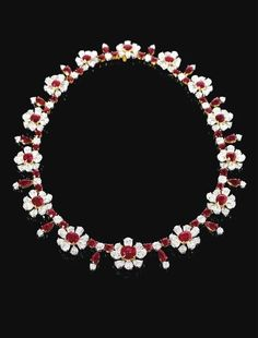 Very Fine Ruby and Diamond Necklace3