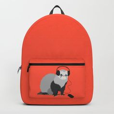 3ff6db1fbf  PPL   Buy Music Loving Ferret Backpack by borianagiormova. Worldwide  shipping available at Society6.com. Just one of millions of high quality  products ...