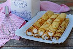 Őrületes grízes palacsintatészta bögrésen - Rupáner-konyha Sweet Cakes, Fudge, Pesto, Cupcake, Food And Drink, Sweets, Homemade, Cookies, Cream