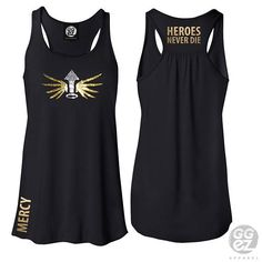 mercy shirt, mercy tee, mercy shirt, tank,heroes,never,die,support,foil,rhinestone,healer,fps,gamer,custom,ggez,gaming,overwatch,cosplay