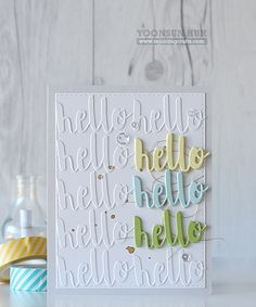 RejoicingCrafts: A subtle tone-on-tone background using Simon Says Stamp Splash of Color Hello die! #simonsaysstamp