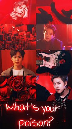 Suho Lockscreen-Twitter @LKOFKPOP || ~Isa Kpop Exo, Exo Chanyeol, Aesthetic Collage, Red Aesthetic, Exo Lockscreen, Kim Junmyeon, Korean Boy Bands, Exo Members, Chinese Boy