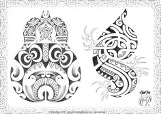 Polynesian Tattoo Drawings | Polynesian 02 by ManuManuTattoo