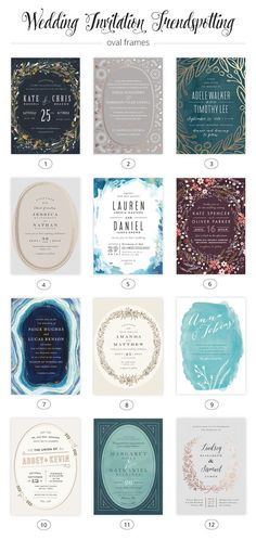2015 Wedding Invitation Trends : Oval Frames