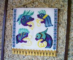 Book of Kells Medieval Beasts Tapestry Dollhouse by CalicoJewels, $115.00