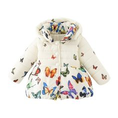 Toddler Baby Girls Winter Coat Infants Kid Cotton Butterfly Jacket Outwear SM3-in Jackets & Coats from Mother & Kids on Aliexpress.com | Alibaba Group