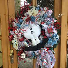 Snowman wreath. Really XXL wreath. Get yours for the next christmas. Now with 40% off.  Celebrating my upcoming birthday i created coupon code BIRTHDAYGIRL to get 40% off. Minimum purchase 40€. Valid till march 7th 2017. Check my store TapsikDesign.