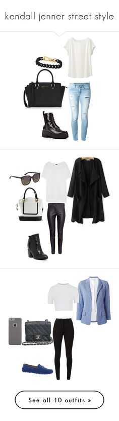 """""""kendall jenner street style"""" by cherysaxcx ❤ liked on Polyvore featuring Uniqlo, Dondup, Jeffrey Campbell, MICHAEL Michael Kors, Emanuel Ungaro, J.Crew, Janet & Janet, Marc Jacobs, Vanessa Bruno and Topshop"""