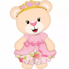ursinha princesa ref11 - mdf adesivado - festa - 90 cm