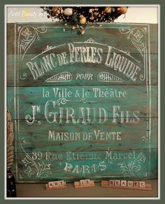 ART IS BEAUTY: Beautiful French Pallet Art