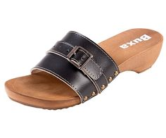 Dreváky šľapky TE15 - Čierne - Dámske šľapky - Dreváky, drevaky-buxa.sk, drevená obuv