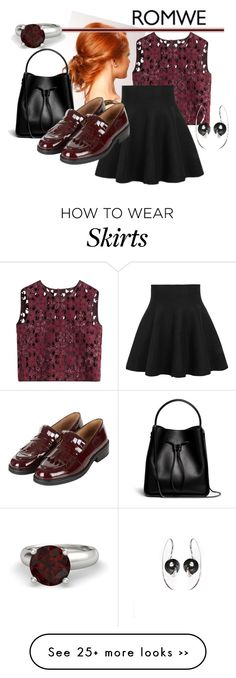 """Black Ruffle Skirt by Romwe"" by goodandwell on Polyvore featuring Alberta Ferretti, 3.1 Phillip Lim, Topshop and Lee Renee"