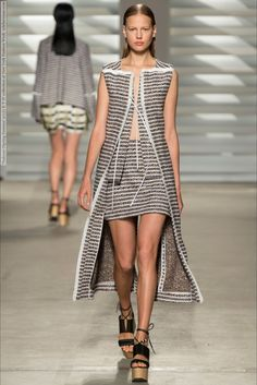 Thakoon-Spring-Summer-2015- Back Wall Pattern with light could add some interesting detail