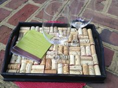 DIY wine cork tray