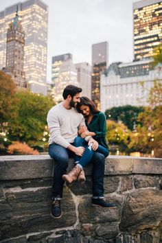 nyc engagement shoot + central park engagement shoot