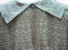 antique child's smocked dress detail via The Costume Institute of The Metropolitan Museum of Art ... ca. 1890