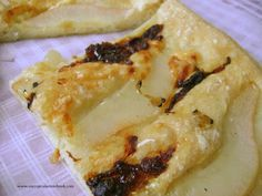 Pear, Chèvre and Caramelized Onion Foccacia with Acacia Honey with Truffle — MY CUPCAKE NOTEBOOK