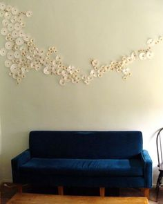 coffee filter wall decor. Hello big blank living room wall...