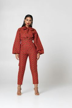 Breathing new life into your everyday wardrobe, this bold, daring, and colourful African Print Jumpsuit with pockets and for a fuller figure has been designed African Fashion Designers, African Print Fashion, Africa Fashion, African Fashion Dresses, African Outfits, Ankara Fashion, Fashion Outfits, Fashion 101, Fashion Styles