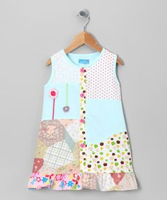 Take a look at this Blue Flower Patchwork Dress - Infant, Toddler & Girls on zulily today!